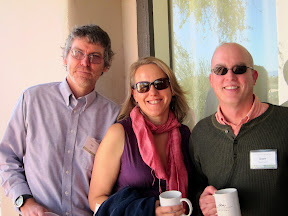 Kay Mathiesen with Don Fallis and David Shoemaker at the UA Workshop on Normative Ethics